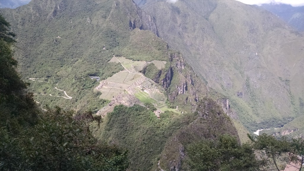 Oh, look, an eagle eye view of Machu Picchu! Wow! Great, now get me the hell off this mountain.