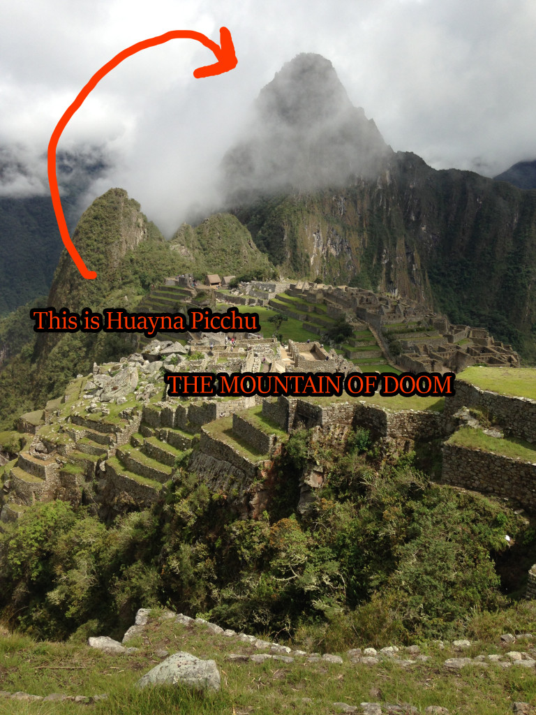 An easy-to-understand map of Machu and Huayna Picchu