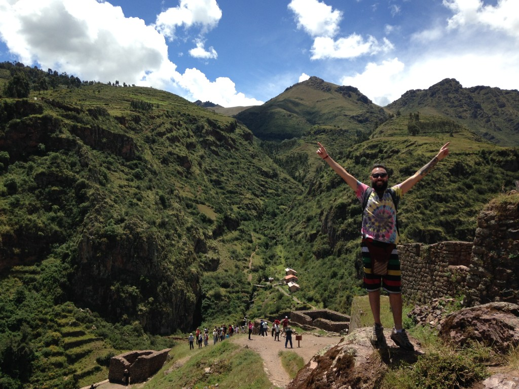 Jorge is victorious in Pisac Ruins.