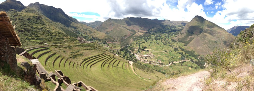Looking down over Pisac Ruins
