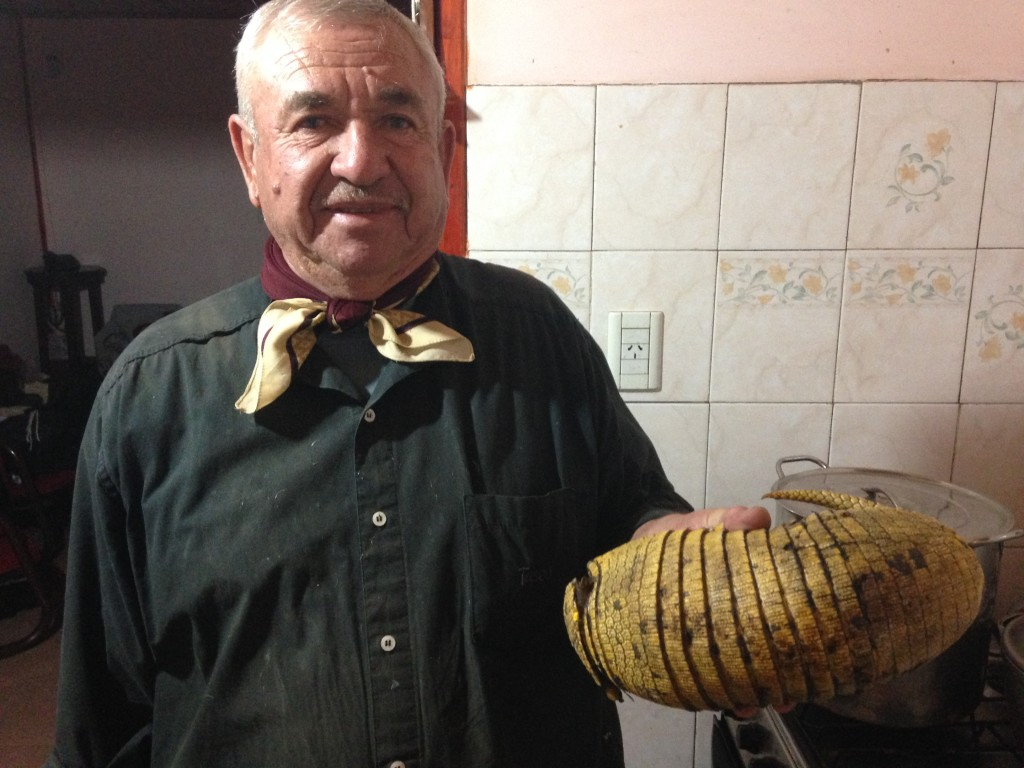 Jorge's father and the catch of the day: QUIRQUINCHO
