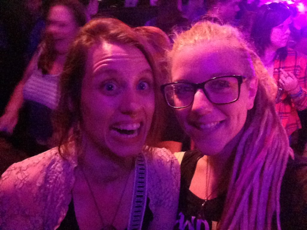 Heather and I at the Hanson concert
