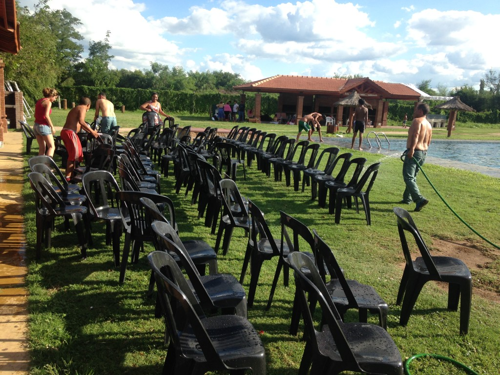 Chair preparation...en masse!